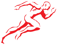 Red Core Performance Academy Logo Man