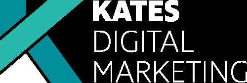Kates Digital Marketing company logo with white font